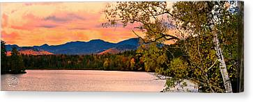 Sunset In The Mountains Canvas Print by Brad Hoyt