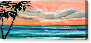 Sunset In The Tropics Canvas Print by Gina De Gorna