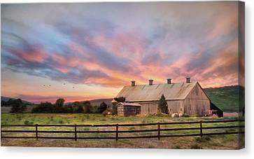 Rural Canvas Print - Sunset In The Valley by Lori Deiter