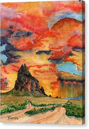 Sunset In The West Canvas Print by Timithy L Gordon