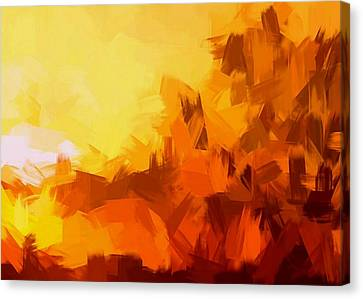 Sunset In Valhalla Canvas Print