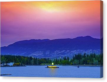 Sunset In Vancouver  Canvas Print by Art Spectrum