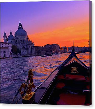 Venice Canvas Print - sunset in Venice by Happy Home Artistry