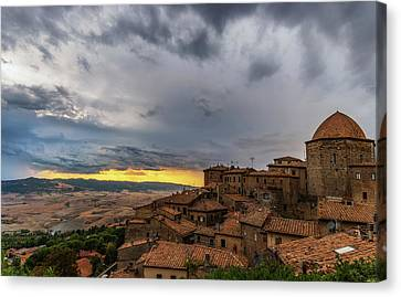 Sunset In Volterra Canvas Print