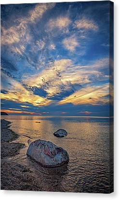 Sunset In Wading River Canvas Print by Rick Berk