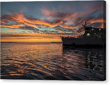 Sunset In Zadar No 1 Canvas Print by Chris Fletcher