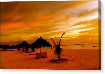 Sunset In Zanzibar Canvas Print by Joe  Burns