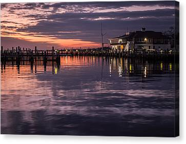 Sunset Island Heights Yacht Club Canvas Print by Terry DeLuco