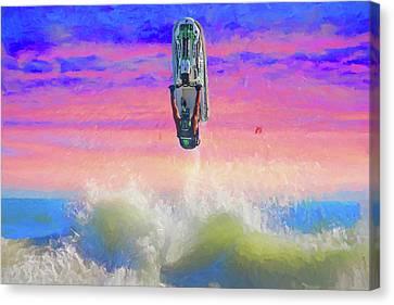Sunset Jumper Canvas Print