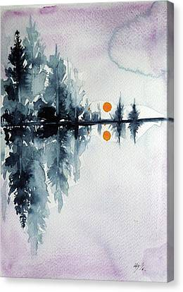 Winter Landscapes Canvas Print - Sunset by Kovacs Anna Brigitta