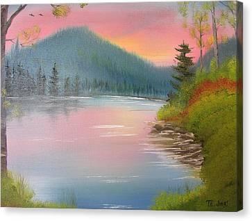 Sunset Lake Canvas Print by Thomas Janos