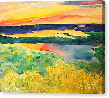 Canvas Print - Sunset Lakes by Tina Sheppard