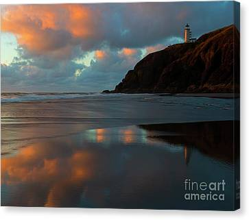 Sunset Light Reflections Canvas Print by Mike Dawson
