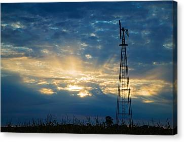 Sunset Light Through Heavy Clouds Canvas Print by Panoramic Images