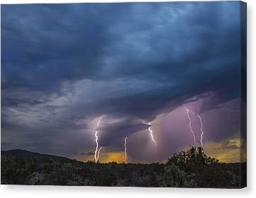 Sunset Lightning Canvas Print