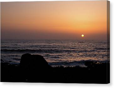 Canvas Print featuring the photograph Sunset by Lora Lee Chapman