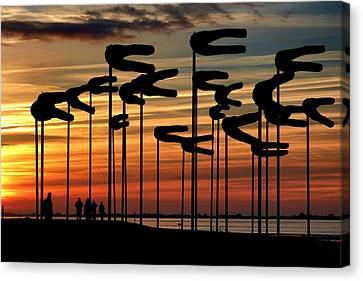 Tropical Sunset Canvas Print - Sunset by Lynda Art