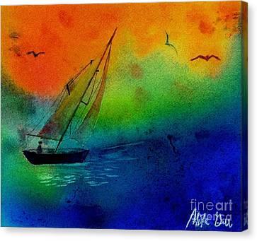 Sunset Canvas Print by Michael Grubb