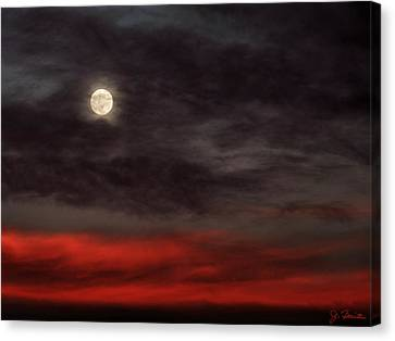 Sunset Moon Canvas Print