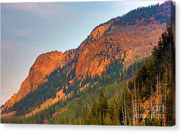 Canvas Print featuring the photograph Sunset Mountains by Robert Pearson