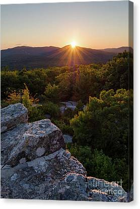 Sunset, Mt. Battie, Camden, Maine 33788-33791 Canvas Print by John Bald