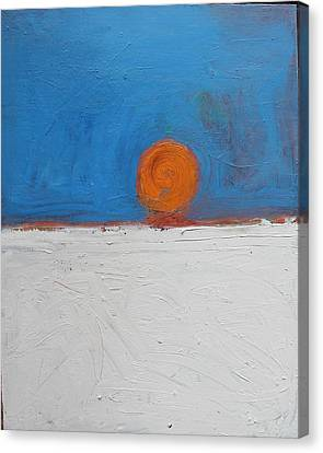 Sunset No. 11 Oil On Board 16 X 20 2008 Canvas Print by Radoslaw Zipper