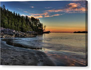 British Columbia Canvas Print - Sunset Of Seclusion by Mark Kiver