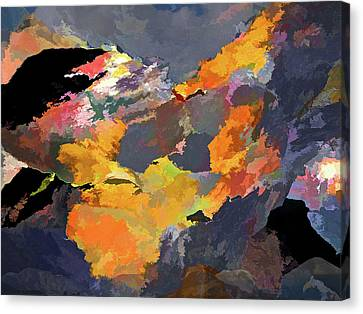 Canvas Print featuring the mixed media Sunset Of The Gods 4 by Lynda Lehmann
