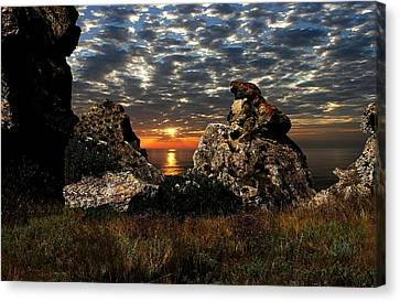 Sunset On Azov Canvas Print by Yuri Hope