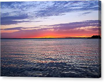 Sunset On Barnegat Bay I - Jersey Shore Canvas Print