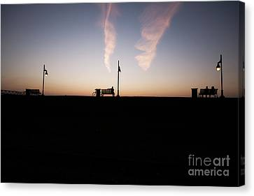 Sunset On Baton Rouge Levee Canvas Print by Scott Pellegrin