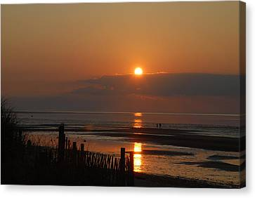 Canvas Print featuring the photograph Sunset On Cape Cod by Alana Ranney