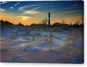 Sunset On Fire Island Canvas Print by Rick Berk