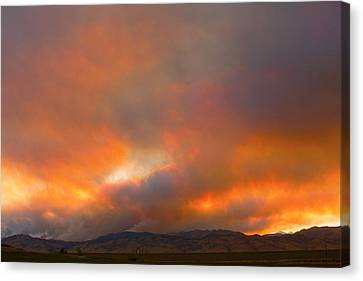 Sunset On Fire Canvas Print by James BO  Insogna
