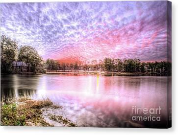 Sunset On Flint Creek Canvas Print