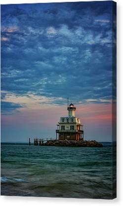 Sunset On Gardiners Bay Canvas Print by Rick Berk