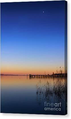Sunset On Lake Constance II Canvas Print by Bernd Laeschke