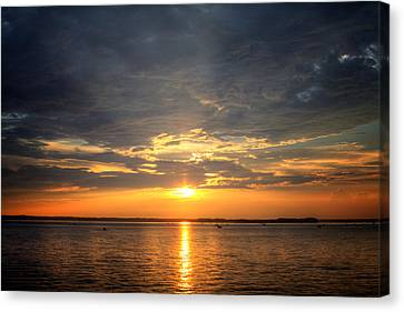 Sunset On Lake Hartwell Canvas Print