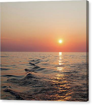 Sunset On Lake Michigan Canvas Print by Melanie Alexandra Price
