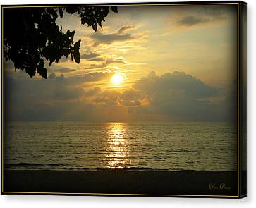 Sunset On Lake Michigan Canvas Print by Trina Prenzi
