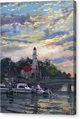 Mississauga Canvas Print - Sunset On Lake Shore Mississauga by Ylli Haruni