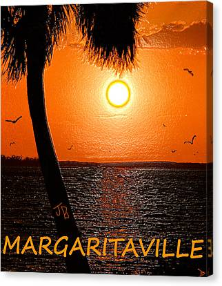 Sunset On Margaritaville Canvas Print by David Lee Thompson