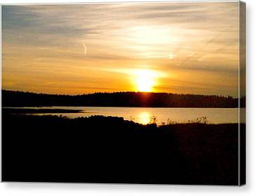Sunset On Morrison Beach Canvas Print