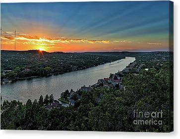 Sunset On Mount Bonnell Canvas Print