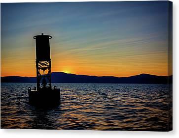 Penobscot Bay Canvas Print - Sunset On Penobscot Bay by Rick Berk