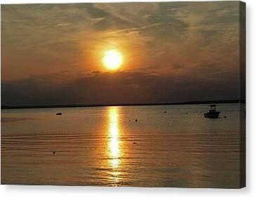 Sunset On Pocasset Canvas Print