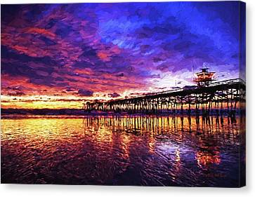 Sunset On San Clemente, Nbr 1c Canvas Print by Will Barger