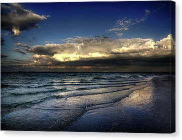 Chrystal Canvas Print - Sunset On Sanibel by Chrystal Mimbs