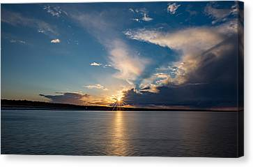 Sunset On The Baltic Sea Canvas Print