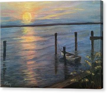 Sunset On The Bay Canvas Print